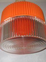 Suspension années 70 orange