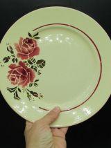 6 assiettes plates + plat faïence Badonviller modèle Strasbo