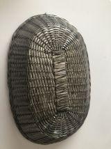 Corbeille à pain ou à fruits en métal tressé