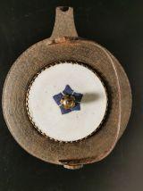 Manabé en fonte et porcelaine Japonaise époque Meïji