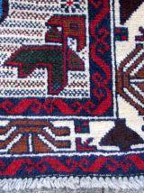 Tapis vintage Afghan Baluch fait main, 1Q0309