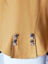 Vintage veste Autrichienne  laine moutarde XL