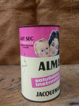 Boite publicitaire en tôle lithographiée (lait en poudre)