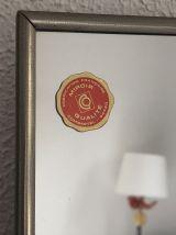Miroir triptyque barbier framboise vintage 1960 - 28 x 74 cm