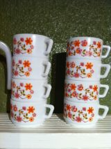 Lot arcopal pichet mugs tasses bol plat