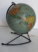 Globe terrestre Girard verre vintage 1960 - 27 cm
