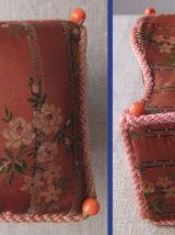 Belle boîte - A couture ancienne en tissu et carton
