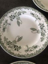 5 assiettes plates Saint Amand et Hammage Modèle Modern Styl
