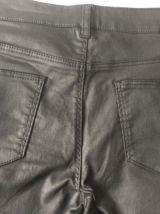 pantalon enduit noir