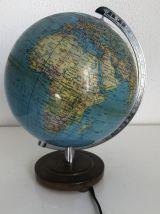 Globe terrestre allemand Colomb vintage 1970 - 25 cm