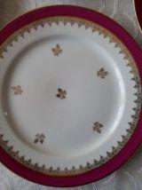 Service à gâteau Porcelaine de Limoges