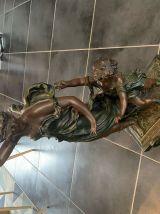 statue en régule femme et enfant Moreau