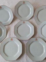 8 assiettes plates  Porcelaine de Limoges