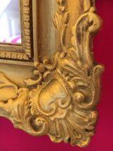 Miroir ancien doré 50 x 42cm style Napoléon 3