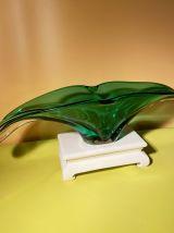 Coupe de fruits en verre cristal