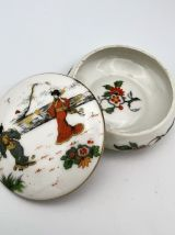 Bonbonnière vintage 1930- Ronde Geishas Porcelaine