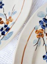 Plats de service de table Sarreguemines, plats céramique.