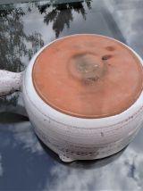 Poêlon de cuisson grés céramique Vallauris, casserole grés.