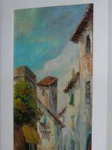 Paire de tableaux à l'huile signés