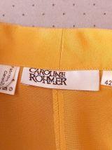 80s Caroline Rohmer blouse bouffante moutarde