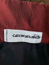 80s  Georges Rech jupe boule bordeaux noeuds XS