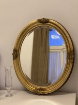 Oval mirror gold finish 62x50cm