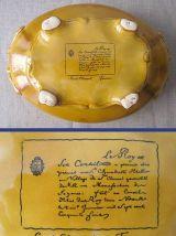 soupière et son plateau en faïence de Saint-Clément