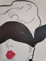 """affiche """"le rouge baiser"""" de René Gruau éditions du désastre"""