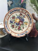 Assiette Vintage Faïence de Bruxelles  22 cm