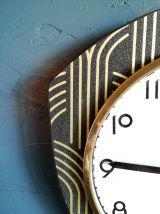 """Horloge vintage, pendule """"Beroz Noir et Or"""""""