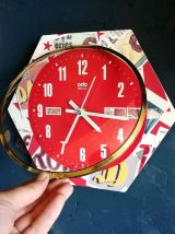 """Horloge vintage, pendule murale """"Odo rouge"""""""