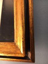Miroir ancien bois doré 48 cm x 40 cm début XXe