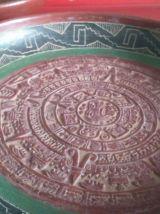 Plateaux terre cuite art  aztèque ethnique