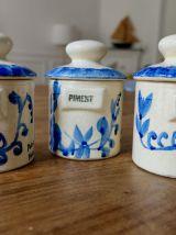 Lot 3 petits pots à épices