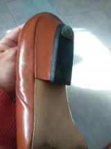 Chaussure fonteneau cuir camel taille 35