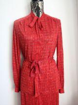 Ensemble chemisier jupe vintage marque Rodier Taille 42