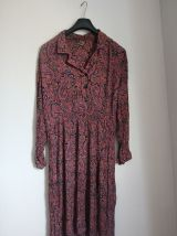 Robe longue fleurie vintage made in France Taille 46