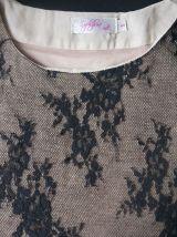 Haut marque Sophyline noir et beige Taille S