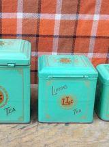 """Joli trio de boites en tôle """"Lipton's tea"""" (thé)"""