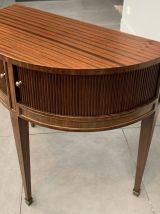 Table / cabinet demi lune vintage