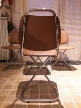 Chaise skai et  chrome 70s