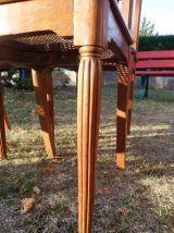 6 Chaises bois cannées art-déco 1930