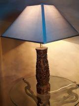 grande lampe en bois exotique  finement sculptée danseuse th