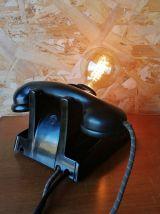 """Lampe industrielle, lampe vintage - """"Black Phone"""""""