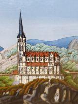 Ancien cadre souvenir de Notre Dame de Lourdes