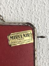 Miroir triptyque barbier Mirclair rouge vintage 1960 - 24 x
