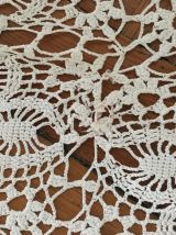 Grande nappe ou jetée lit crochet ancienne
