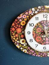 """Horloge vintage, pendule """"Bayard Fleurs"""""""