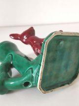 Bougeoir faon art déco en céramique