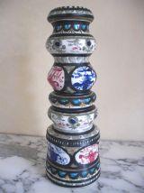 vases ou bougeoir céramique l'Helguen Keraluc Quimper,